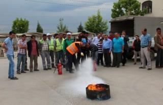 Park Bahçe Personeline Yangın Eğitimi