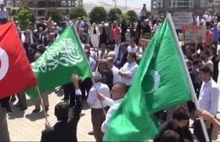 Yazıcıoğlu kararını protesto edenlere gazlı...