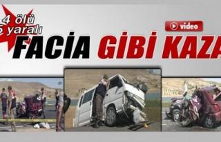 Kilis'te otomobil ile minibüs çarpıştı