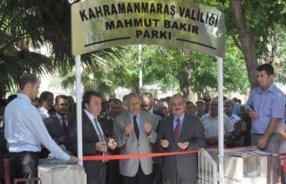 Kahramanmaraş'ta park açılışı