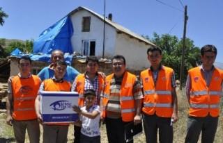 'Kimse Yok Mu' Afşin'de Gıda Paketi Dağıttı