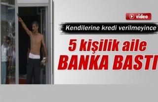 5 kişilik aile banka bastı