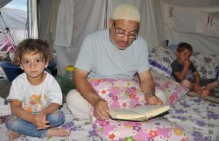 Çadırkentte ilk iftar