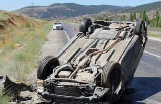 Göksun'da Trafik Kazası 2 Yaralı