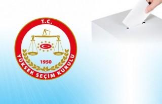 YSK, geçici aday listesini yayımladı