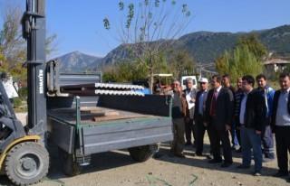 87 aileye dam örtülüğü dağıtıldı