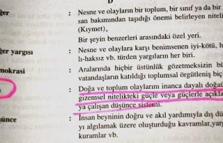 Lise sosyoloji kitabında akıllara ziyan 'din' tarifi!