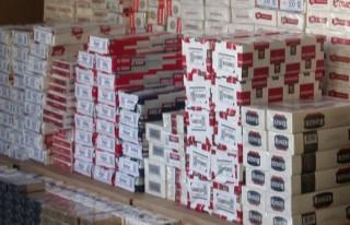 Lüks otomobilde 10 bin paket kaçak sigara!