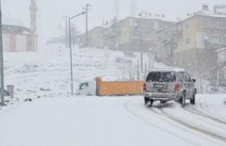 Kahramanmaraş'a kar süprizi