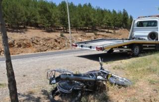 Motosiklet şarampole uçtu: 1 Ölü, 1 Yaralı!