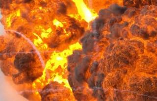 Doğalgaz boru hattında patlama!!
