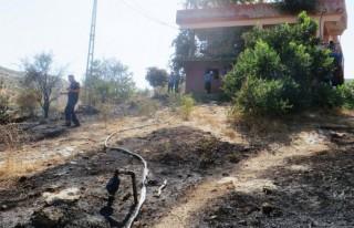 Bahçe Yangını Evlere Sıçramadan Söndürüldü!