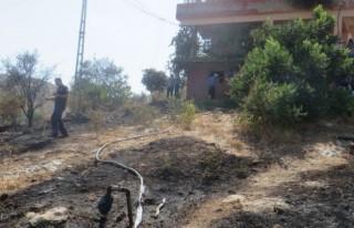 Bahçe yangını evlere sıçramadan söndürüldü