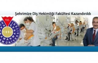 KSÜ'ye Diş Hekimliği Fakültesi tamam!