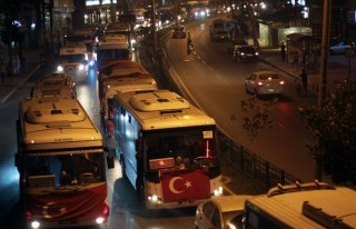 Adana'Da Konvoylu Terör Protestosu