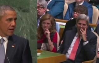 Obama konuştu Kerry esnedi!