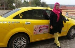 Bu da kadınlara özel taksi!