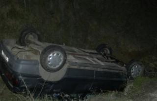 Alkollü sürücü kaza yaptı!
