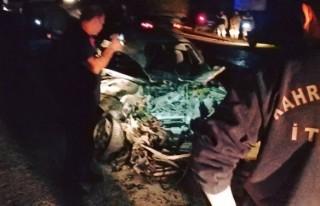Kahramanmaraş'ta trafik kazası: 1 ölü, 2 yaralı!