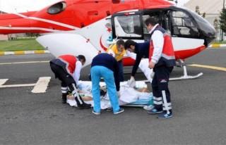 Ambulans helikopter umut oldu!