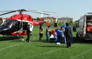 Hava ambulansında hayatını kaybetti