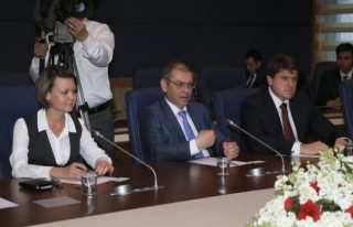 Güvenç, Ukrayna Heyetini kabul etti