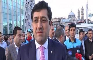 Taksim Meydanı'na ilk gelen Murat Hazinedar oldu!