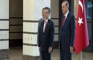 Erdoğan, Japon büyükelçiyi kabul etti!