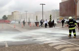 Kahramanmaraş Piazza'da yangın tatbikatı