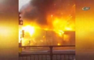 Havai fişek fabrikasında yangın!