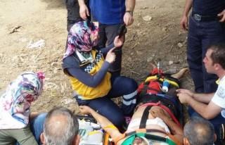 Kurbanlık Dananın Saldırısına Uğradı