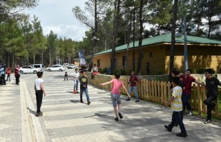 Suriyeli yetimler mini hayvanat bahçesinde