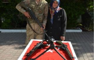 Elbistanlı engelli gencin askerlik hayali gerçek...