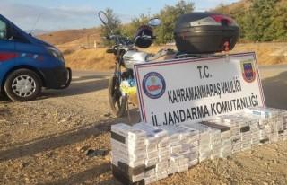 Motorize sigara kaçakçısı jandarmaya takıldı