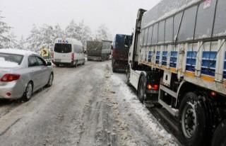 Kahramanmaraş'ta yoğun kar yağışı