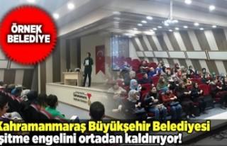 Kahramanmaraş Büyükşehir Belediyesi engelleri...