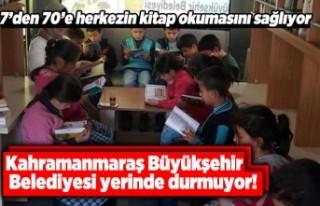 Kahramanmaraş Büyükşehir Belediyesi yerinde durmuyor!