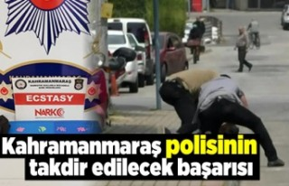 Kahramanmaraş polisinin büyük başarısı...
