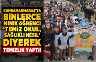 Kahramanmaraş'ta binlerce minik öğrenci el...