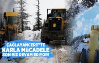 Kahramanmaraş'ta karla mücadele son hız sürüyor!