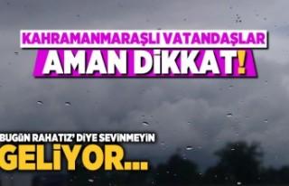 Kahramanmaraş'ta pazar günü hava nasıl olacak?...
