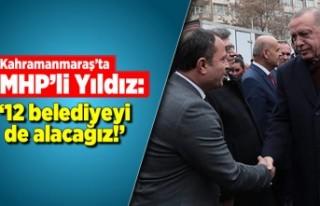 MHP'li Yıldız: 12 Belediyeyi de alacağız