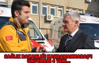 Sağlık Bakanlığı Kahramanmaraş'ı unutmadı!