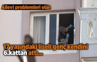 17 yaşındaki genç evlerinin penceresinden atlayarak...