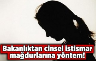 Adalet Bakanlığı cinsel istismara maruz kalan kişilere...