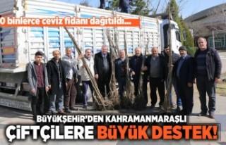 Büyükşehir'den Kahramanmaraşlı çiftçilere...