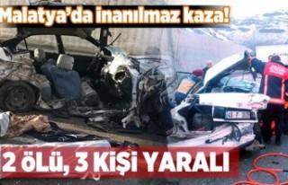 Malatya'nın Akçadağ ilçesinde kaza oldu.