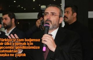 Ünal: biz Türkiye'yi ileriye götürmekten...