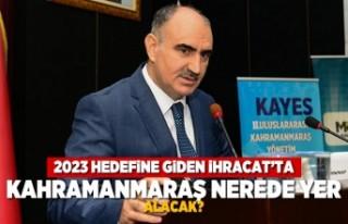 2023 Hedefine giden ihracat'ta Kahramanmaraş...