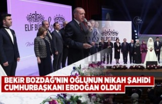 Bekir Bozdağ'nın oğlunun nikah şahidi Cumhurbaşkanı...